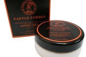 crème de rasage castle forbes au bois de santal