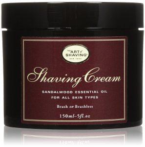 crème de rasage the art of shaving au bois de santal