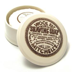 savon à barbe mitchell wool fat
