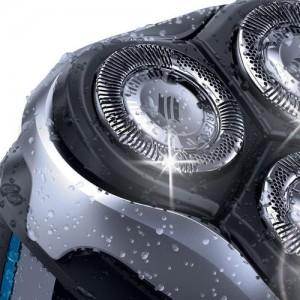 têtes rotatives rasoir électrique homme Philips Aquatouch AT890