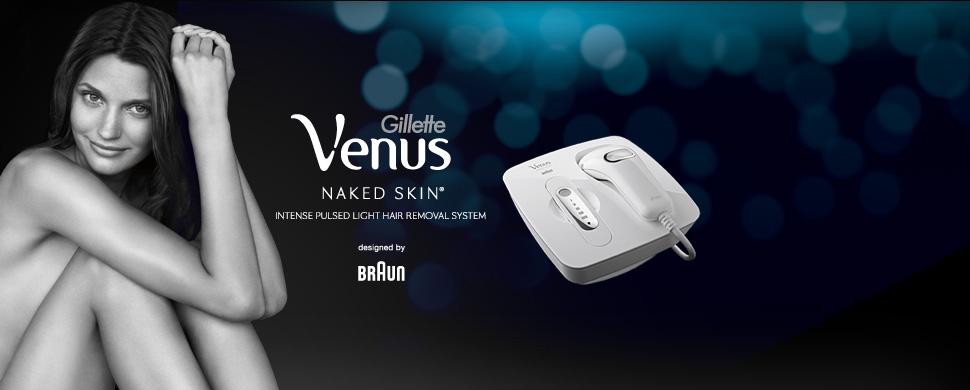 epilateur lumiere pulsee gillette venus naked skin