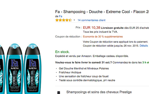 amazon promo supplementaire
