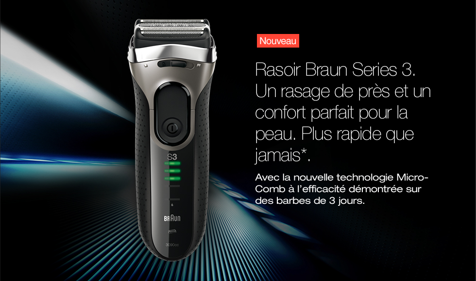 rasoir électrique braun serie 3 3020s avis